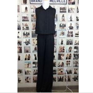 Brandy Melville Sleeveless Collar Jumpsuit Black